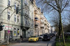 Hamburgs Bezirke/ Altona, Stadtteil Altona Nord - Julius Leber Strasse - Wohblocks Gründerzeit Architektur