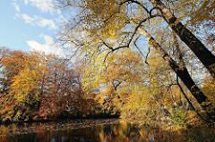 Teich und Herbstbäume Hohenbuchenpark.
