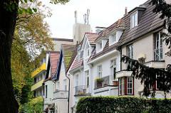 Hausgiebel - Stadtvillen, Hamburg Winterhude / Sierichstrasse.