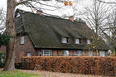 Groß Flottbeker Strasse Bauernhaus - Fachwerkhaus Reetdach.