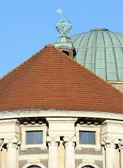 Detail der 1919 eröffneten Hamburger Universität - Vorlesungsgebäude