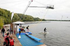 Wasserski und Wakeboardanlage am Neuländer See - Fotos aus den Hamburger Stadtteilen.