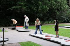Minigolf spielen im Stadtpark