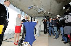 Pressekonferenz mit Kultursenatorin Barbara Kisseler zum Weiterbau an der Elbphilharmonie.