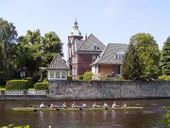Johanniskloster in Hamburg Eppendorf - Alster Ruderboot.