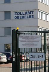 Hamburgs Stadttteil Billbrook - Zollamt Oberelbe - Pinkertweg.