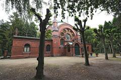 Stadtteil Hamburg Ohlsdorf - Jüdischer Friedhof -Synagoge und Trauerhalle - Architekt August Pieper.