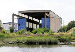Schiffshalle der ehem. Oelkerswerft am Reiherstieg in Hamburg Wilhelmsburg - die Schiffswerft wurde 1991 endgültig geschlossen.
