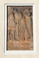 Relieftafel an der Palmaille - Altonas älteste Strasse. Bilder aus den Hamburger Stadtteilen
