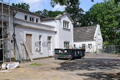 Baustelle am Hesse-Haus; das ehemalige Landhaus Klünder wurde um 1800 errichtet.