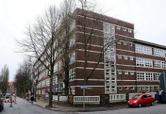 Gebäude Schule beim Pachthof - Architektur öffentlicher Gebäude 1929er 1930er Jahre - Hamburger Klinkerarchitektur.