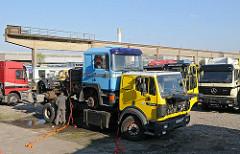 Stadtteil Billbrook - Gewerbegebiet Werner Siemens Strasse Lastwagen Zugmaschine Tansport.
