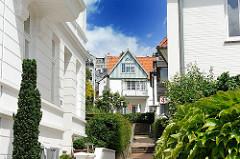 Häuser in Hamburg Blankese - Architekturstile der Hansestadt Hamburg.