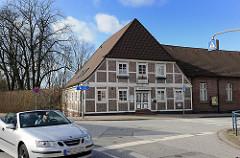Sportwagen / Cabriolet Strasse Curslack - Bauernhaus, Fachwerkhaus.