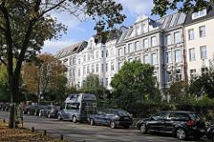Etagenhäuser in der Bernadottestrasse - Gründerzeitarchitektur in Hamburg Ottensen.