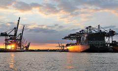 CMA CGM CALISTO Hafen Hamburg, Waltershofer Hafen - HHLA Containerterminal Burchardkai