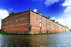 Historisches Speichergebäude - Speicherblock G - Denkmalschutz im Hamburger Hafen - Bilder aus dem Stadtteil Kleiner Grasbrook.