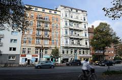 Wohnhäuser am Mundsburger  Damm - historische Architektur Hamburgs - Bilder aus Hamburg Uhlenhorst.
