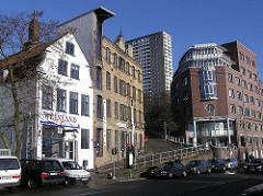 historische Gebäude  - ehem. Maschinenfabrik Groth & Degenhardt, Grosse Elbstrasse - erbaut 1880 - Hamburgbilder aus dem Bezirk Altona.