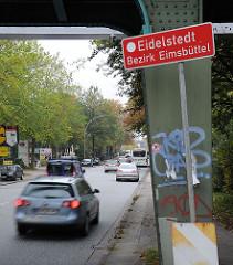 Stadtteilschild Eidelstedt, Bezirk Eimsbüttel.