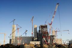 Hamburgs Baustellen - Grossbaustelle Kohlekraftwerk Moorburg.