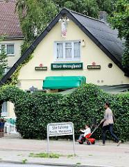 Altes Grenzhaus - Grenzschild Hamburg Steilshoop - Fotos aus den Hamburger Stadtteilen.