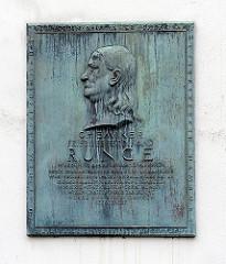 Billdeich Geburtshaus Friedrich Ferdinand Runge Erinnerungsplakette.