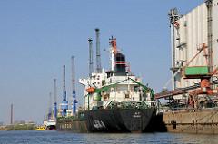 Das Frachschiff TALTY liegt am Kai im Reiherstieg - Bilder aus Hamburg Wilhelmsburg.