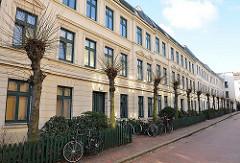 Terrassenhäuser in Hamburg St. Pauli - Wohnen in den Hamburg Stadtteilen. Historische Bausubstanz in der Hansestadt Hamburg.
