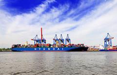 Blick zum Ballinkai des Container Terminals Altenwerder - Bilder aus dem Hamburger Hafen.