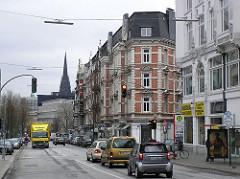 Alte Wohnhäuser / Etagenhäuser in der Hamburger Kaiser-Wilhelm-Strasse.