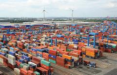 Gelände Container Terminal Altenwerder - Portalkräne, Containerlager