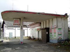 Tankstelle 50er Jahre - Ruine an Harburger Schellerdamm.