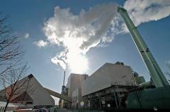 MVA Borsigstrasse - Müllverwertungsanlage - Müllverbrennungsanlage hohe Schornsteine Stadtteil Billbrook.