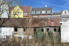 Alte Häuser in HH-St. Pauli  - wohnen in der Hansestadt Hamburg.
