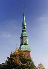 Kupferhelm Kirchturm Altonaer Kirche St. Trinitatis.