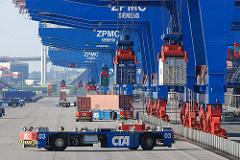 Containerterminal im Stadtteil Hamburg Altenwerder