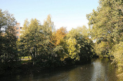 Wohnen in Hamburg Billbrook - Siedlung  Billstieg - Ufer der Bille.