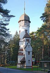 Historischer Wasserturm auf dem Ohlsdorfer Friedhof; erbaut 1898 - Architekt Wilhelm Cordes.