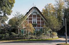 Fotografien aus Hamburgs Bezirken Hamburg Berstedt, Fachwerkhaus am Wohldorfer Damm