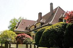 Hamburgs Architektur - Sehenswürdigkeiten der Hansestadt - Architekturgeschichte, Villa Bouncken - Architekt Hermann Muthesius, erbaut 1922.