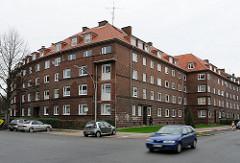 Hamburger Klinkerbauten - einheitliche Wohnblocks Oswaldstrasse Bauerberg.