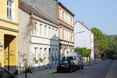 Sehenswürdigkeiten Hamburg Altonas - Historische Wohnhäuser in der Zeissstrasse von HH-Ottensen.