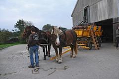 Wattwagen mit Pferden - Hamburger Insel Neuwerk -
