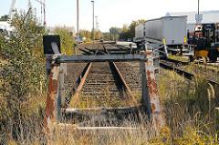 Bilder aus Hamburg Billbrook - Bezirk Hamburg Mitte Moorfleeter Strasse, ehemaliger Güterbahnhof, Prellbock