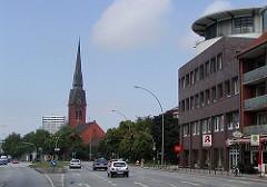 Hamburg Eimsbüttel, Christuskirche an der Fruchtallee.