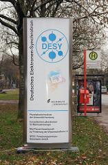 Eingang DESY in Hamburg Bahrenfeld