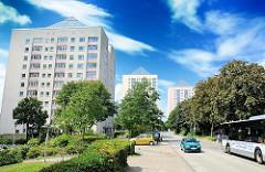 Hochhäuser in Hamburg Lohbrügge Nord - die Grosssiedlung entstand um 1970.