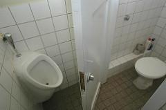 Toilette Abschiebegefängnis Hamburg Fuhlsbüttel.