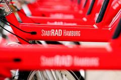 Stellplatz vom StadtRAD Hamburg in der Hafecity.